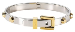 Michael Kors NWT MICHAEL KORS GOLD/ SILVER ASTOR STUD BUCKLE BANGLE BRACELET MKJ1892931