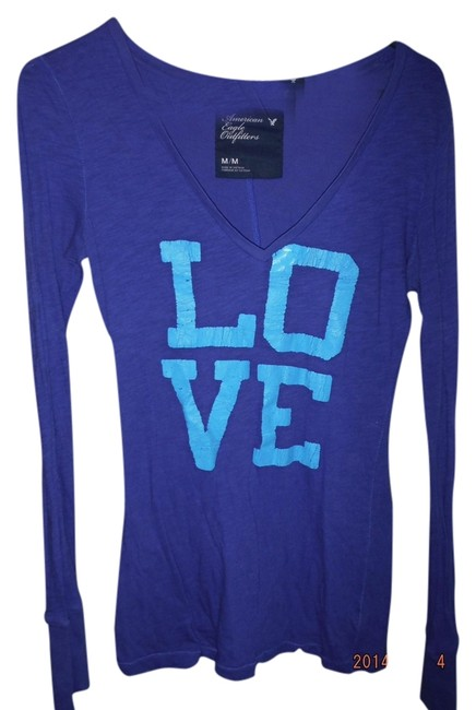Preload https://item3.tradesy.com/images/american-eagle-outfitters-bluemaybe-purpleish-and-blue-night-out-top-size-8-m-1127552-0-0.jpg?width=400&height=650