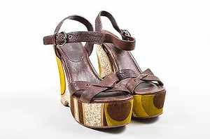 Miu Miu Multicolor Brown Sandals