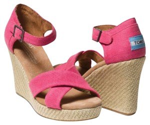TOMS Pink Wedges