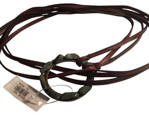 Nordstrom Green Moss Tie Belt Leather