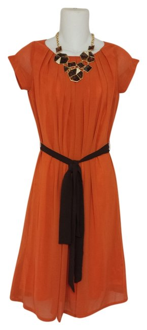 Preload https://img-static.tradesy.com/item/1127674/orange-drape-knee-length-short-casual-dress-size-4-s-0-0-650-650.jpg