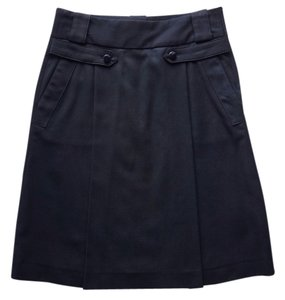 Zara Wool A Line Skirt black