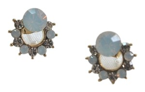 NEW Translucent Wreath Cubic Stud Earrings