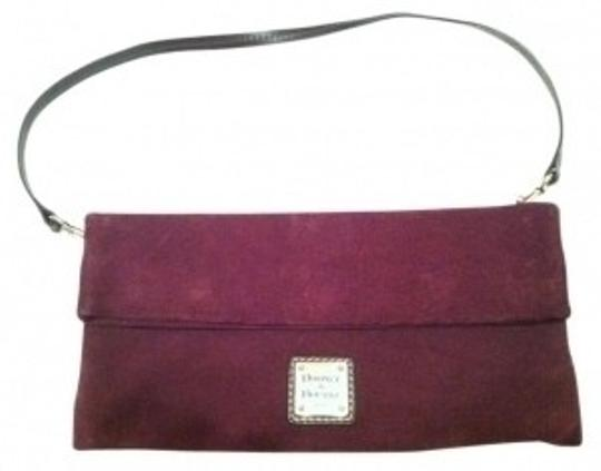 Preload https://item3.tradesy.com/images/dooney-and-bourke-foldover-deep-purple-suede-clutch-11277-0-0.jpg?width=440&height=440