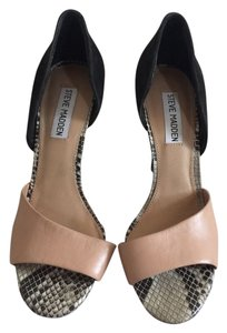 Steve Madden black nude and snake skin Pumps
