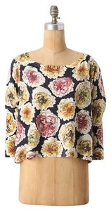 Anthropologie Knitted And Knotted Floral Sweater