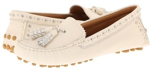 Coach Brand New New New In Box Chalk Leather Loafer Ladies 9 White Chalk Flats