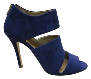 Ava & Aiden Blue Suede Sandals