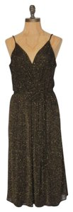 Calvin Klein Evening Holiday Faux Wrap Dress