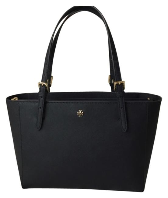 Item - Small York Buckle Navy Saffiano Leather Tote
