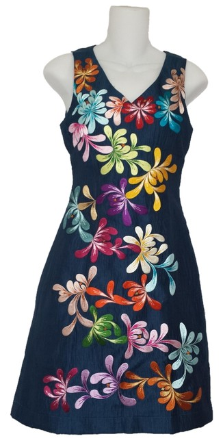 Wahine Couture Honolulu Embroidered Silk Dress