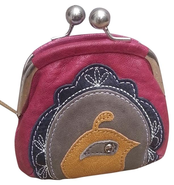 Item - Candy Icon Coin Purse Dark Pink Vintage Leather Clutch