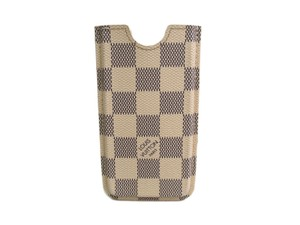 Louis Vuitton Auth LOUIS VUITTON Phone 5 Hard Case Damier Azur N63187 (BF094944)