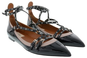 Valentino Rockstud Rockstud Rockstud Caged Love Latch Love Latch Black patent 39(EU) NIB Flats