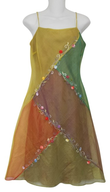 Preload https://item4.tradesy.com/images/multicolor-silk-embroidered-knee-length-short-casual-dress-size-8-m-1127823-0-0.jpg?width=400&height=650