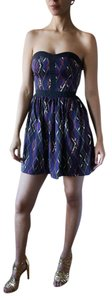 Lavender Brown Fashion Tribal Retro Dress
