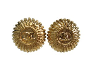 Chanel Auth CHANEL COCO Mark Clip Earrings Metal Gold (BF090789)