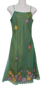 Wahine Couture Honolulu short dress multi-Green Silk Embroidered on Tradesy