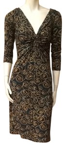 London Times short dress Brown Green on Tradesy