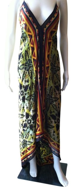 Preload https://item3.tradesy.com/images/nicole-miller-green-print-plunging-neckline-high-low-cocktail-dress-size-4-s-1127882-0-0.jpg?width=400&height=650