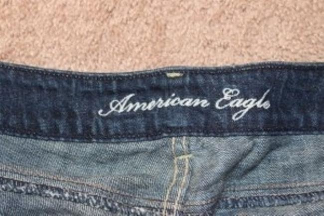American Eagle Outfitters Cuffed Shorts Blue Jean