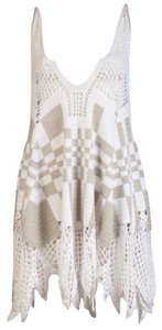 Jen Kao short dress White Crochet Tunic on Tradesy
