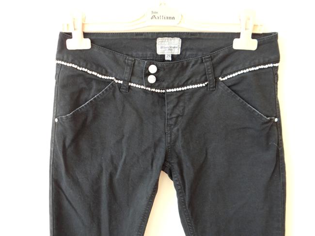 Met in Jeans Swarovski Crystals Design. Size 29. Small. Made Italy. Skinny Jeans-Dark Rinse