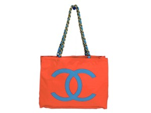 Chanel Tote in Blue / Red