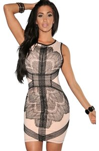 Hot Miami Styles Midi Lace Sexy Bodycon Dress