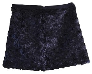 Elizabeth and James Mini Textured Mini Skirt Black