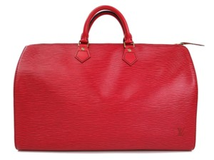 Louis Vuitton Rouge Castillian Travel Bag