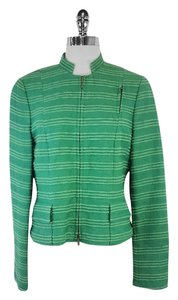 Akris Punto Green Striped Silk Jacket