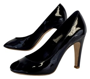Marc by Marc Jacobs Black Patent Leather Peep Toe Pumps