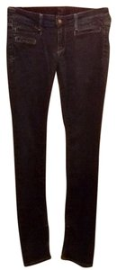 Brown Label Straight Skinny Zipper Ankle Zippered Slimming Slimmy Skinny Jeans-Dark Rinse