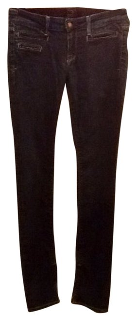 Brown Label Straight Zipper Ankle Zippered Slimming Slimmy Skinny Jeans-Dark Rinse