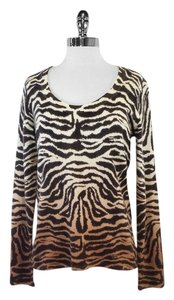 Saks Fifth Avenue Tiger Print Cashmere Sweater