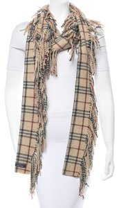 Burberry Beige, black, red, multicolor Burberry Nova check Happy printed wool long scarf New