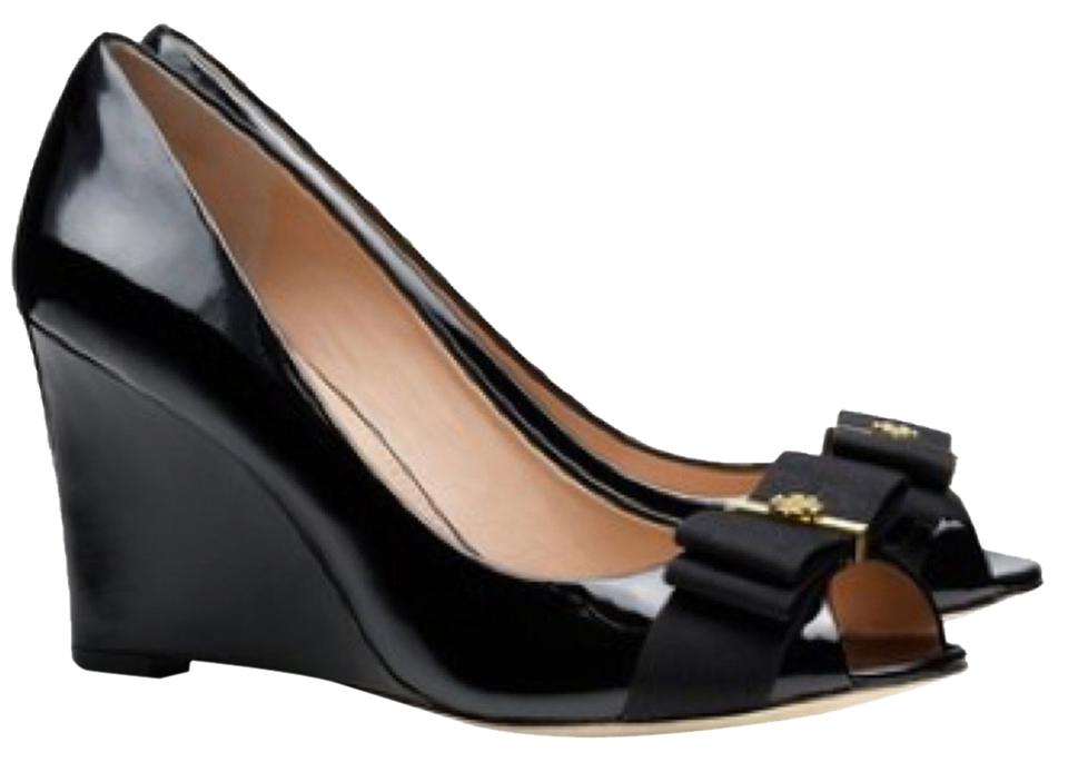 Tory Open Burch Blac Trudy 85mm Open Tory Toe Wedges ab2464