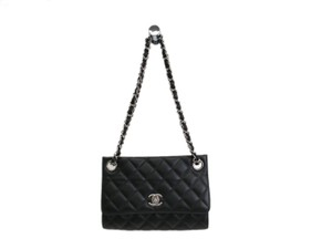 Chanel Auth CHANEL Umbrella Case Single Flap Bag Lambskin Black A66239 (BF091033)