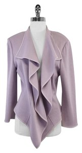 St. John Lavender Draped Open Cardigan
