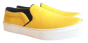 Céline Lather Slip On Trainer Yellow Flats