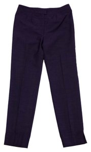 Escada Purple Wool Blend Suit Pants