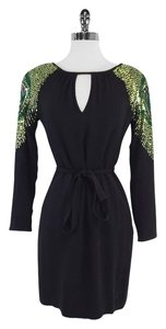 Trina Turk short dress Black Sequin Long Sleeve on Tradesy