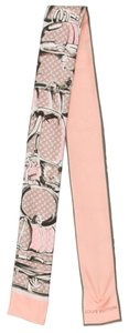 Louis Vuitton Pink, white, grey multicolor Louis Vuitton LV monogram silk bandeau New