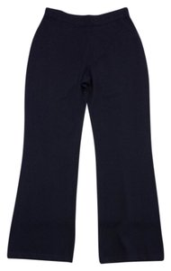 St. John Black Wool Blend Knit Knit Pants