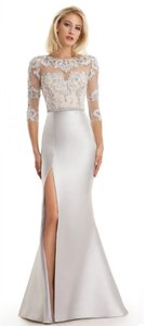 Eleni Elias Silver Eleni Elias M126 Mother Of The Bride Wedding Dress Dress
