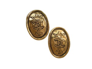 Chanel Auth CHANEL Coco Earrings Metal Gold (BF095024)