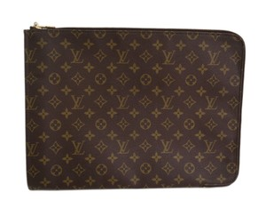 Louis Vuitton Auth LOUIS VUITTON Poche documents Briefcase Monogram M53456 (BF090285)