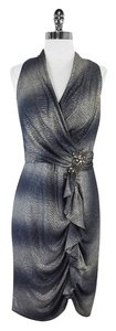 David Meister short dress Silver Metallic Sleeveless on Tradesy